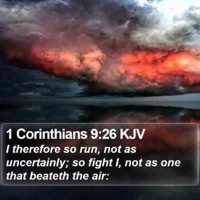 1 Corinthians 9:26 KJV Bible Verse Image