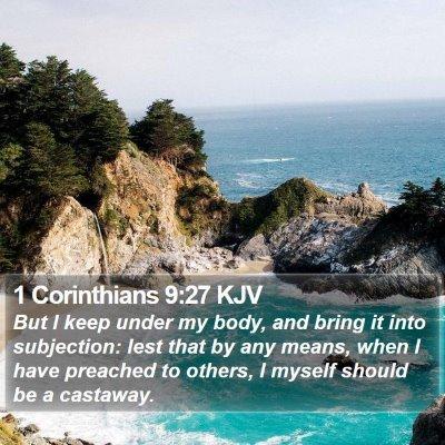 1 Corinthians 9:27 KJV Bible Verse Image