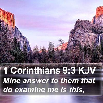 1 Corinthians 9:3 KJV Bible Verse Image