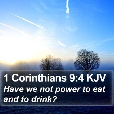 1 Corinthians 9:4 KJV Bible Verse Image