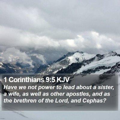 1 Corinthians 9:5 KJV Bible Verse Image