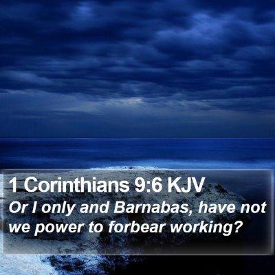 1 Corinthians 9:6 KJV Bible Verse Image