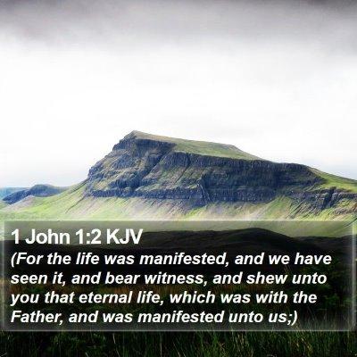 1 John 1:2 KJV Bible Verse Image