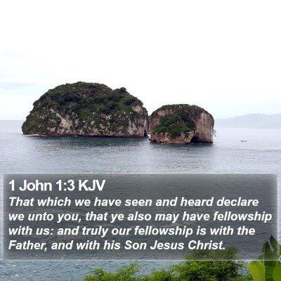 1 John 1:3 KJV Bible Verse Image