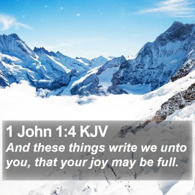 1 John 1:4 KJV Bible Verse Image