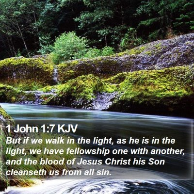 1 John 1:7 KJV Bible Verse Image