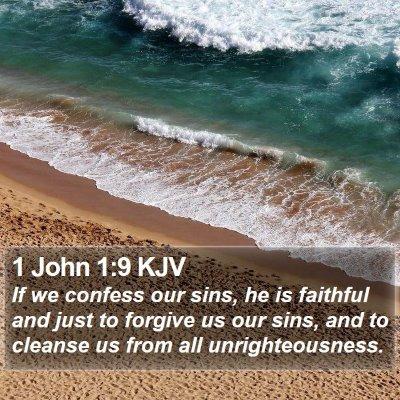 1 John 1:9 KJV Bible Verse Image