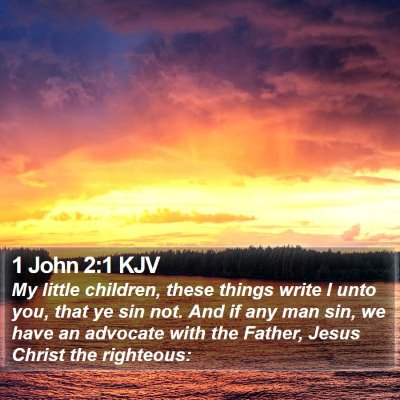 1 John 2:1 KJV Bible Verse Image