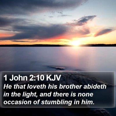1 John 2:10 KJV Bible Verse Image