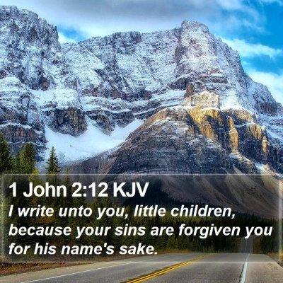 1 John 2:12 KJV Bible Verse Image
