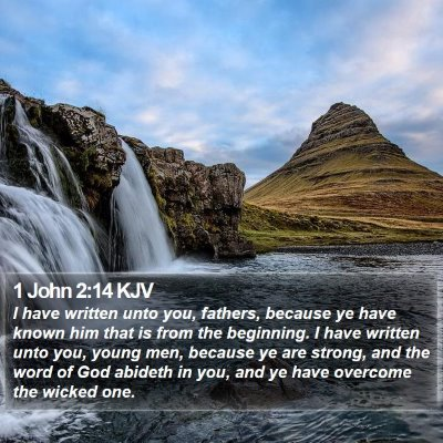 1 John 2:14 KJV Bible Verse Image