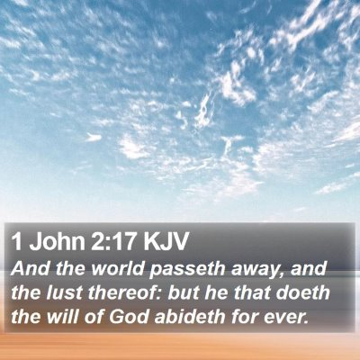 1 John 2:17 KJV Bible Verse Image