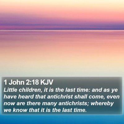 1 John 2:18 KJV Bible Verse Image