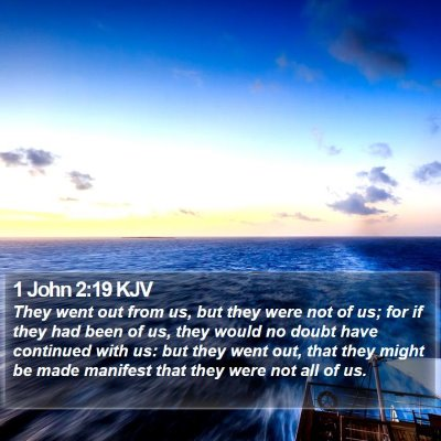 1 John 2:19 KJV Bible Verse Image