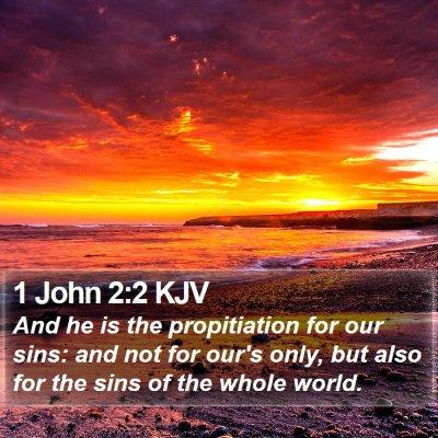 1 John 2:2 KJV Bible Verse Image