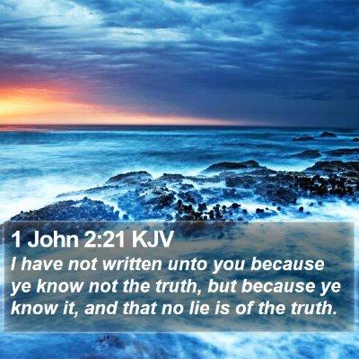 1 John 2:21 KJV Bible Verse Image