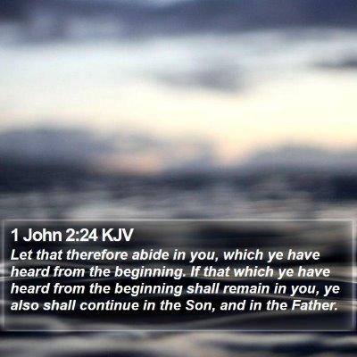 1 John 2:24 KJV Bible Verse Image