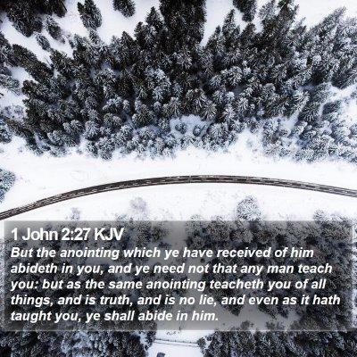 1 John 2:27 KJV Bible Verse Image