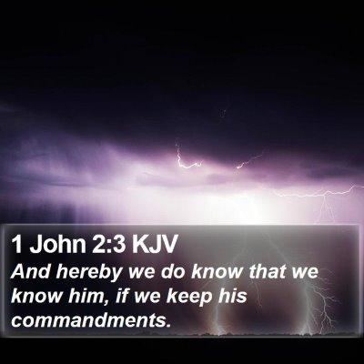 1 John 2:3 KJV Bible Verse Image