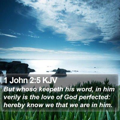 1 John 2:5 KJV Bible Verse Image