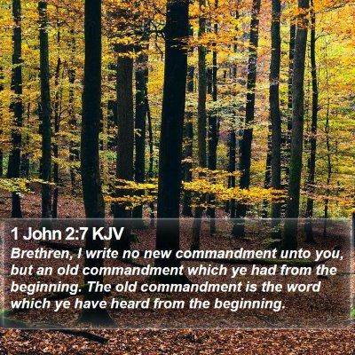 1 John 2:7 KJV Bible Verse Image