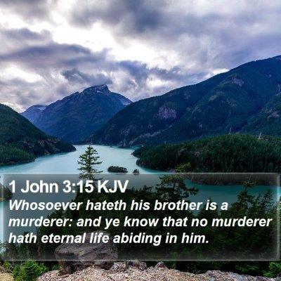 1 John 3:15 KJV Bible Verse Image
