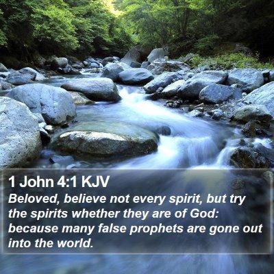 1 John 4:1 KJV Bible Verse Image