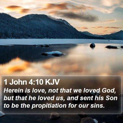 1 John 4:10 KJV Bible Verse Image