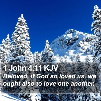1 John 4:11 KJV Bible Verse Image