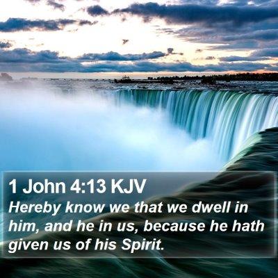 1 John 4:13 KJV Bible Verse Image
