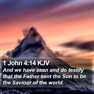 1 John 4:14 KJV Bible Verse Image