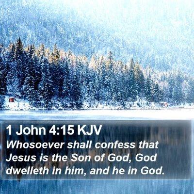 1 John 4:15 KJV Bible Verse Image