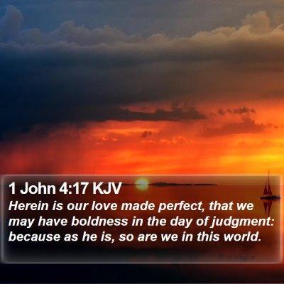1 John 4:17 KJV Bible Verse Image