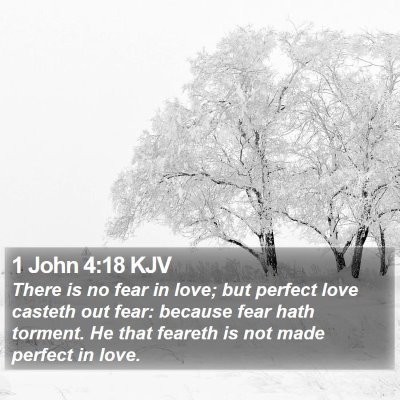 1 John 4:18 KJV Bible Verse Image