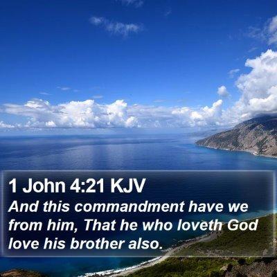 1 John 4:21 KJV Bible Verse Image