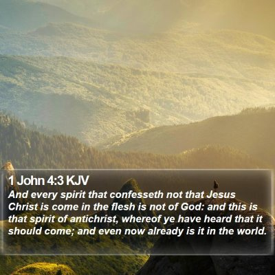 1 John 4:3 KJV Bible Verse Image