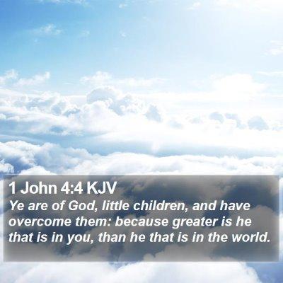 1 John 4:4 KJV Bible Verse Image