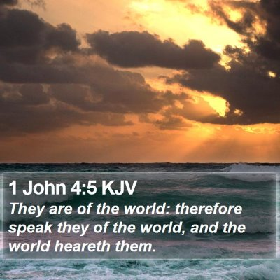 1 John 4:5 KJV Bible Verse Image