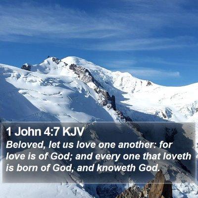 1 John 4:7 KJV Bible Verse Image