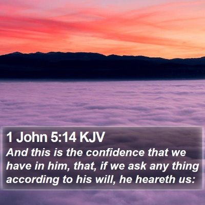 1 John 5:14 KJV Bible Verse Image