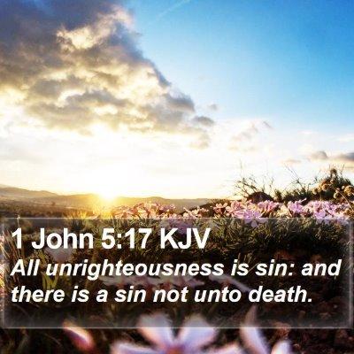 1 John 5:17 KJV Bible Verse Image