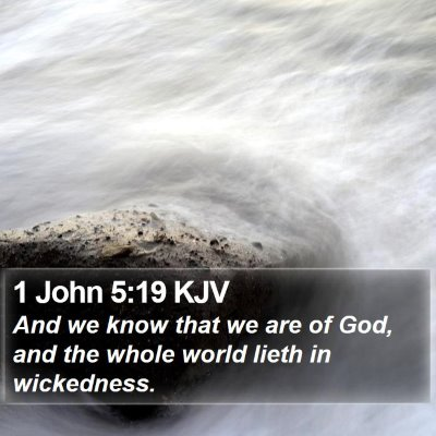 1 John 5:19 KJV Bible Verse Image