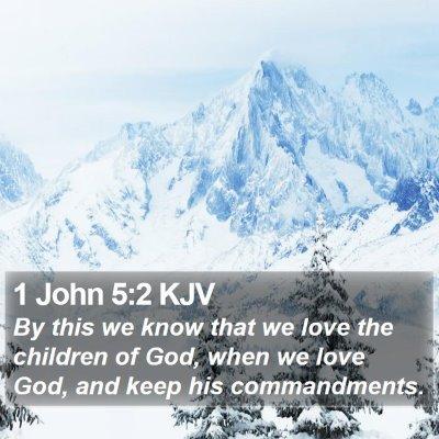 1 John 5:2 KJV Bible Verse Image