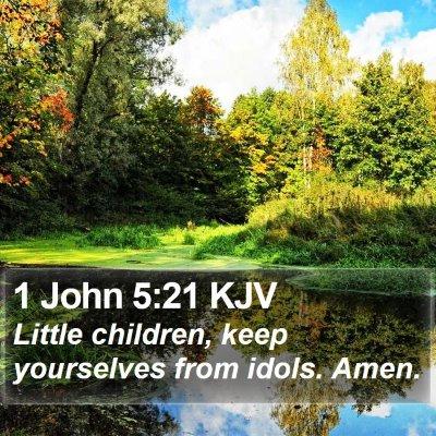 1 John 5:21 KJV Bible Verse Image