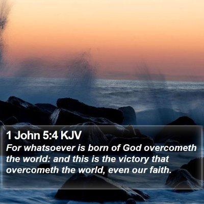 1 John 5:4 KJV Bible Verse Image