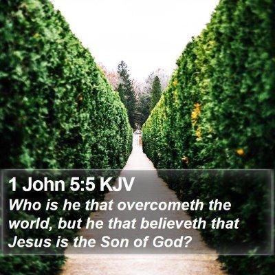 1 John 5:5 KJV Bible Verse Image