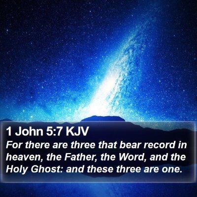 1 John 5:7 KJV Bible Verse Image