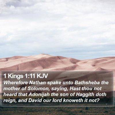 1 Kings 1:11 KJV Bible Verse Image