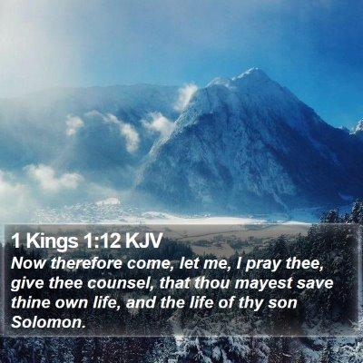 1 Kings 1:12 KJV Bible Verse Image