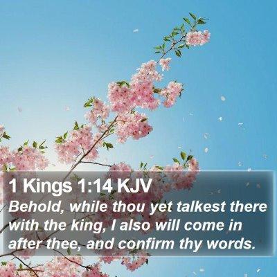 1 Kings 1:14 KJV Bible Verse Image